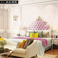 Milan New 3d Wall Paper Roll European Style Fine Embossing Of Round Web Nonwoven Home Decor