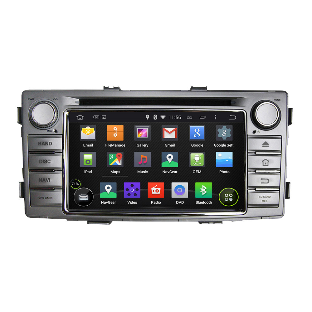 2 din android 5 1 1 car gps navigation dvd for toyota hilux 2012 car stereo car support bluetooth wifi mirror link in car multimedia player from