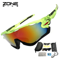 ZONEBIKE 3 Lenses Polarized Cycling Glasses Road Bicycle Sunglasses Men Women Gafas Cicismo Riding Goggles Mountain