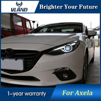 LED Head Lamp for MAZDA 3 Axela Headlights assembly Bi Xenon Lens Double Beam HID 2014 2017