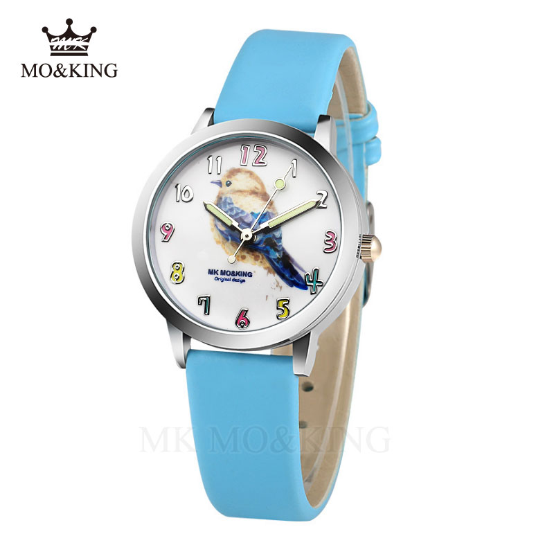 Kids Watch Fashion Cartoon Bird Boy Quartz Clock Girls Women Crystal Dress Quartz Wristwatch Relojes Mujer Reloj Little Bird