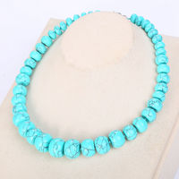 3A Green Turquoise Necklace Natural Stone Statement Coin Rainbow Crystal Choker Charm Chain Reiki Balance Women Yoga Jewelry Bag