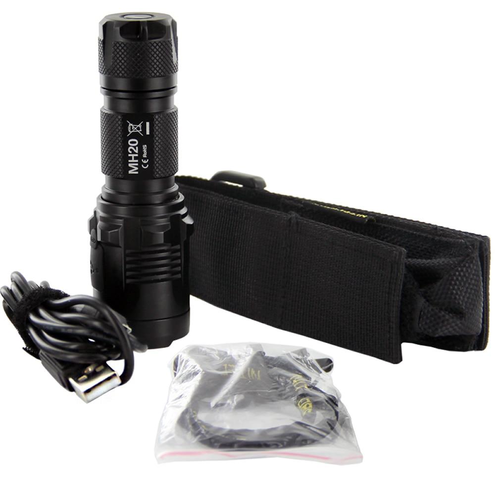Discount NITECORE MH20 1000Lumen CREE XML2 U2 LED Rechargeable Mini Flashlight Waterproof Torch with 18650 Battery Free Shipping - 4