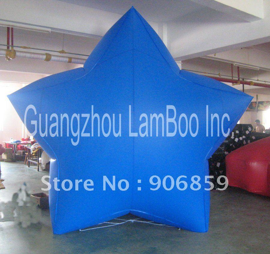 Лидер продаж синий 3 м надувной шар звезды для рекламы/DHL Бесплатная доставка/8 видов цветов для вашего выбора