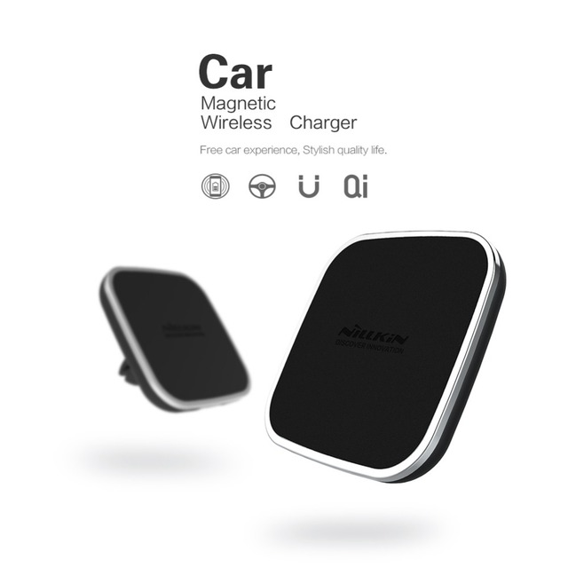 Nillkin qi sem fio do carregador do carro titular respiradouro de ar magnético montar pad para samsung s6 s7 s7 borda nota 5 nota 7 para iphone 6 7 6 além de