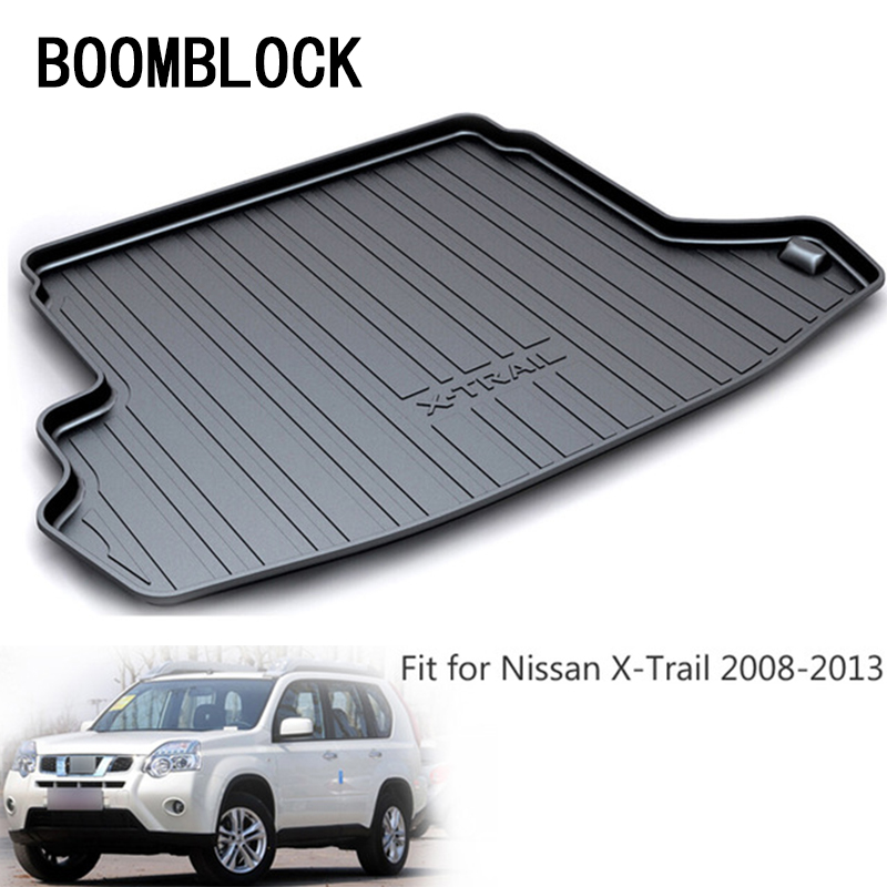 BOOMBLOCK For X-trail Nissan X trail T31 2009 2010 2011 2012 2013 Waterproof Anti-slip Car Trunk Mat Tray Floor Carpet Pad цены