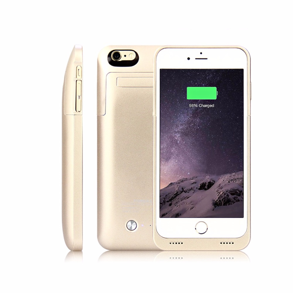 4200mAh External Portable Battery Case Backup Charging Power Bank Cover For iPhone 6 6s plus with
