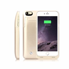 4200mAh External Portable Battery Case Backup Charging Power Bank Cover For iPhone 6 6s plus with Kickstand for iPhone6 3500mAH