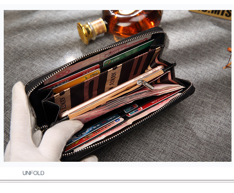Topdudes.com - Men's Casual Long Zipper Purse with Coin Pocket