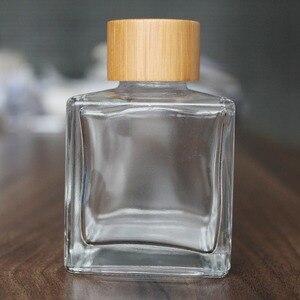 Difusor da fragrância do rattan da garrafa de vidro do aroma nenhum perfume da garrafa do fogo