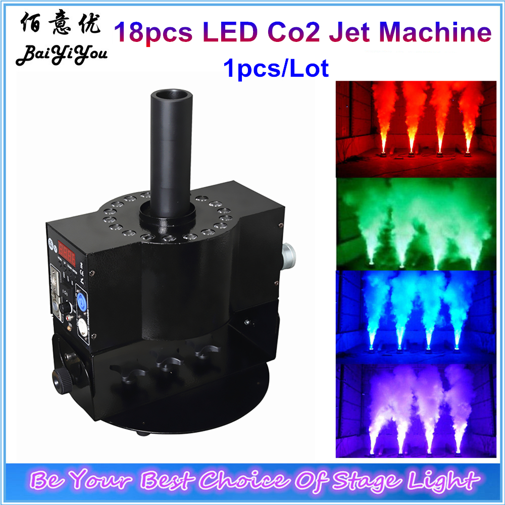 Angle Adjustable18pcs 3W RGB 3In1 LED Co2 Jet Machine DMX Control Led Cryo CO2 Jet Column