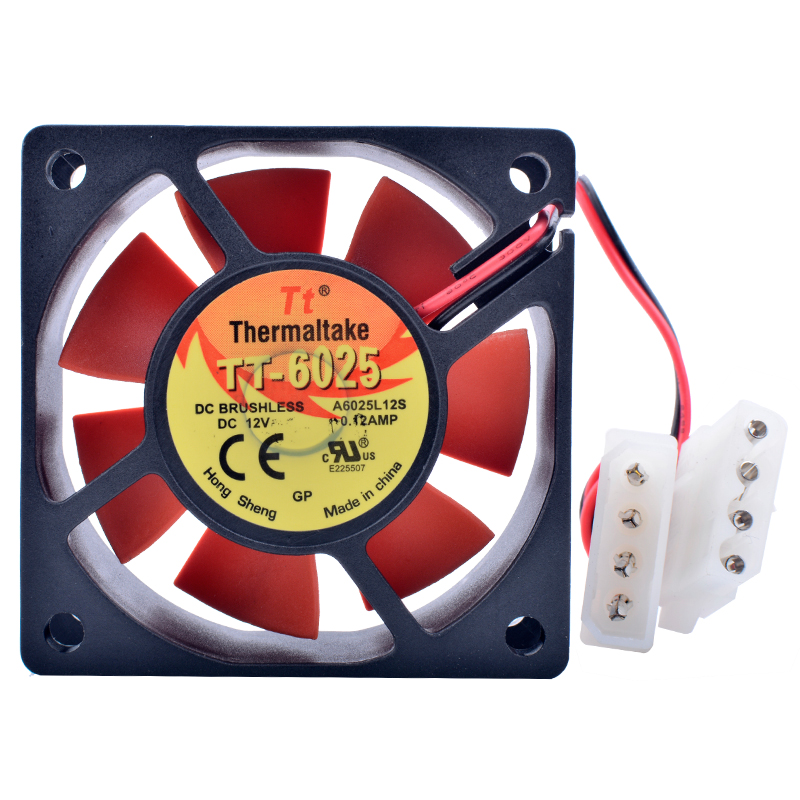 brand new COOLING REVOLUTION A6025L12S 6cm 6025 60mm fan DC 12V Computer chassis cooling fan in Fans Cooling from Computer Office