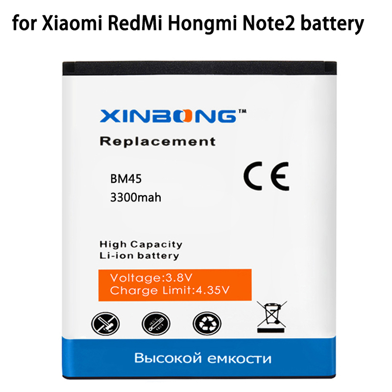 BM45 bm45 Battery for Xiaomi RedMi Hongmi Note2 Red Rice Note 2 Mobile Phone Battery