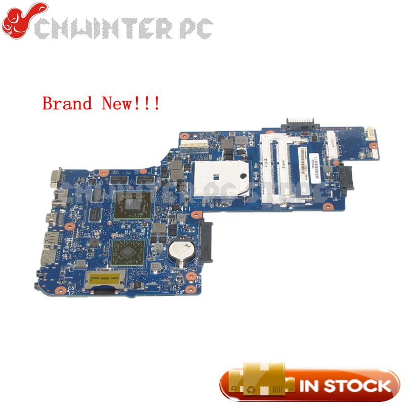 NOKOTION NEW H000052430 MAIN BOARD For Toshiba Satellite C850D L850D C855D L855D Laptop Motherboard Sokcet fs1 HD7600m gpu free shipping for toshiba satellite l850d l855d c850 c855d c850d series motherboard plac csac uma main board fully tested
