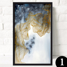 Unframed Modern abstraction canvas wall art painting home decoration living room print modern KJQ-267