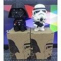 1 unids Star Wars Darth Vader Stormtrooper PVC modelo figura de acción negro Worrior Clone Trooper Toy con la caja Original