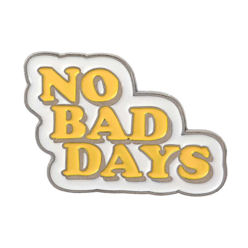 Letters Brooches Collection Enamel Pins Fist Fight like a girl No bad days No