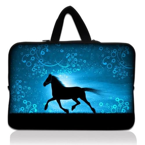 "Horse 11.6"" 12"" Neoprene Laptop Carrying Bag Sleeve Case Cover Holder+Hide Handle For Apple HP"