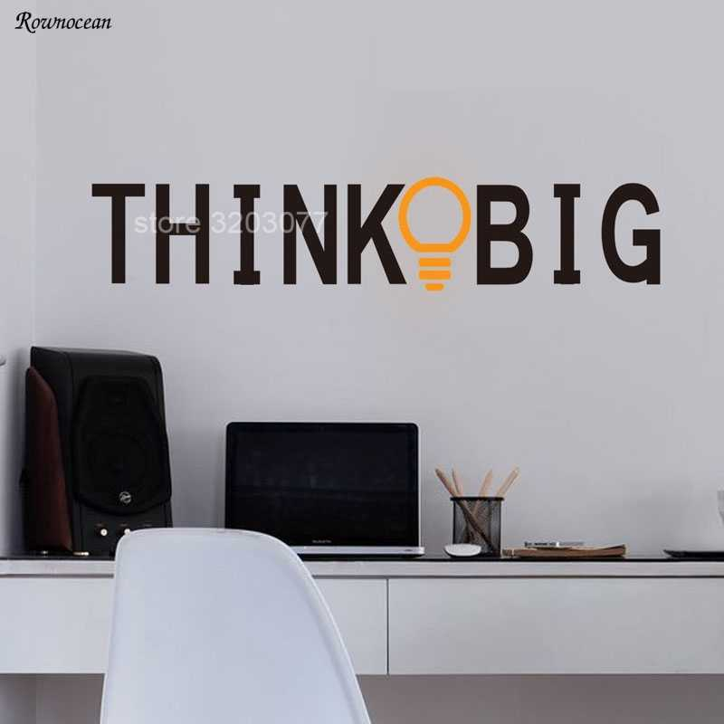 Detail Feedback Questions About Motivational Wall Sticker Study Inspirational Office Decor Quote Think Light Bulb Vinyl Self Adhesive Wallpaper Sk16