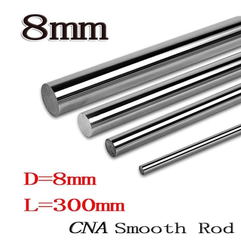 2pcs/lot 8mm  linear shaft 8x300 L300mm 3D printer 8mm x 300mm Cylinder Liner Rail Linear Shaft axis cnc parts 4pcs 8mm 8x700 linear shaft 3d printer 8mm x 700mm cylinder liner rail linear shaft axis cnc parts