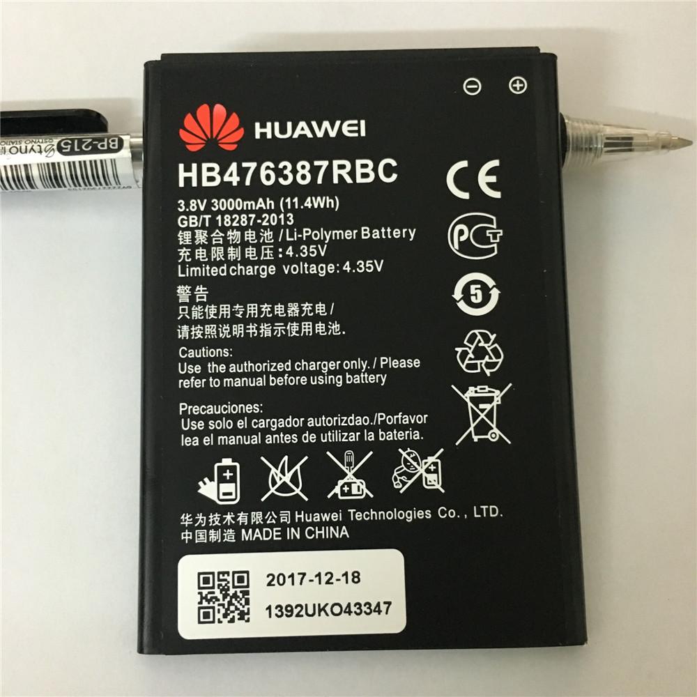 Original For Huawei HB476387RBC Rechargeable Li ion phone battery For Huawei Huawei Honor 3X G750 B199 3000mAh in Mobile Phone Batteries from Cellphones Telecommunications