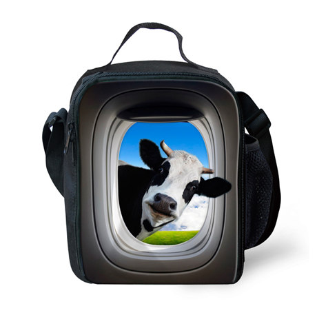 2016 Del Progettista Giraffa Lancheira Sacchetti Pranzo Del Fumetto Per I Bambini Lunchbags Picnic Bolsa Animali Di Stampa Termica Pranzo Per Le Donne Servizio Durevole