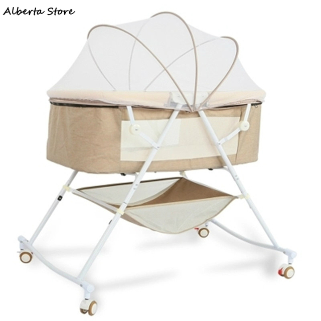 2019 Newest Baby Foldable European Style Cradle Bed Newborn Multifunction Appease Sleepy Portable Baby Shaker Best Gift Cradle