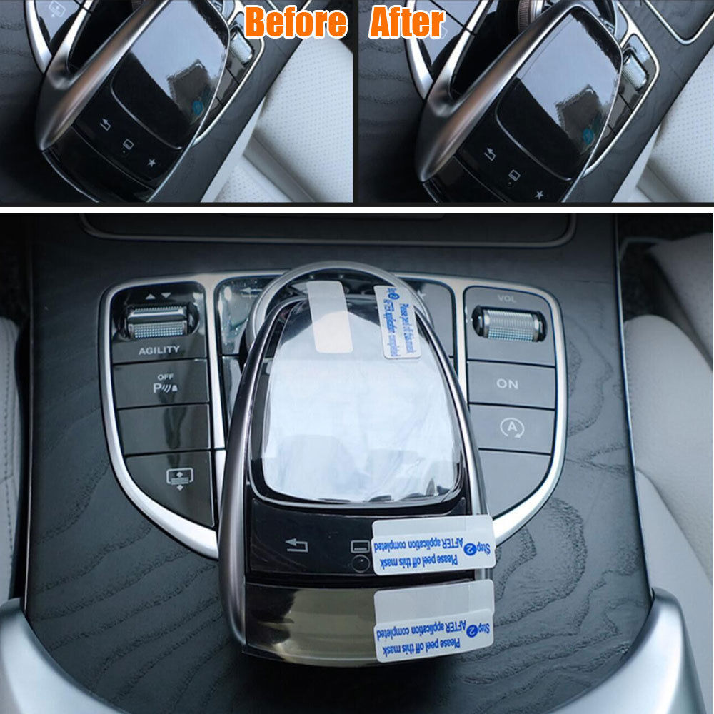 BBQ@FUKA 1pcs Car sticker and decals Auto Console Mouse Screen Film Protector For Benz C Calss W205 2014 2015 Car styling