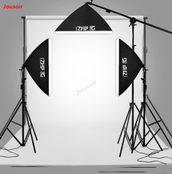 LED three-lamp background rack set Small Studio product portrait capture photo softbox Fill Light CD50 T03