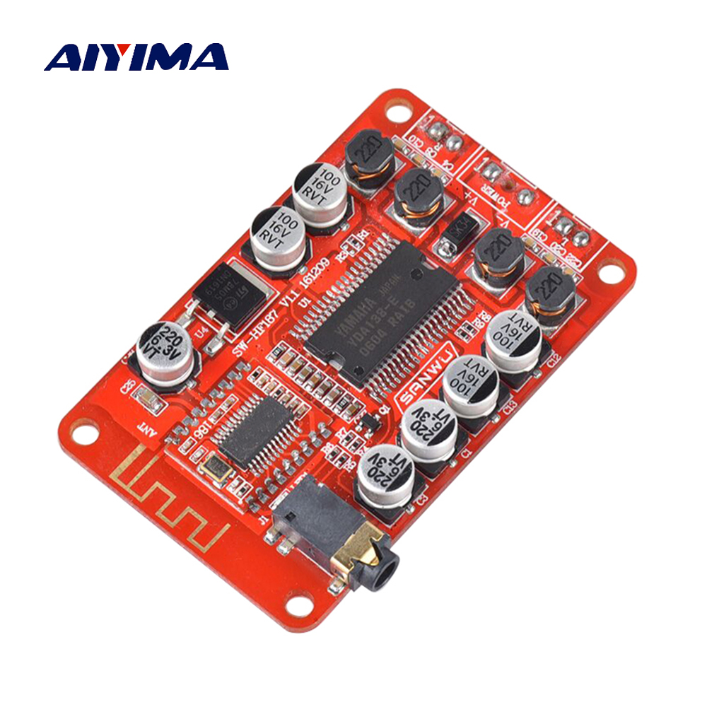 Aiyima YDA138 Bluetooth Digital Audio Amplifier Board 15W*2 Stereo Dual Channel Power Amplifiers For Yamaha