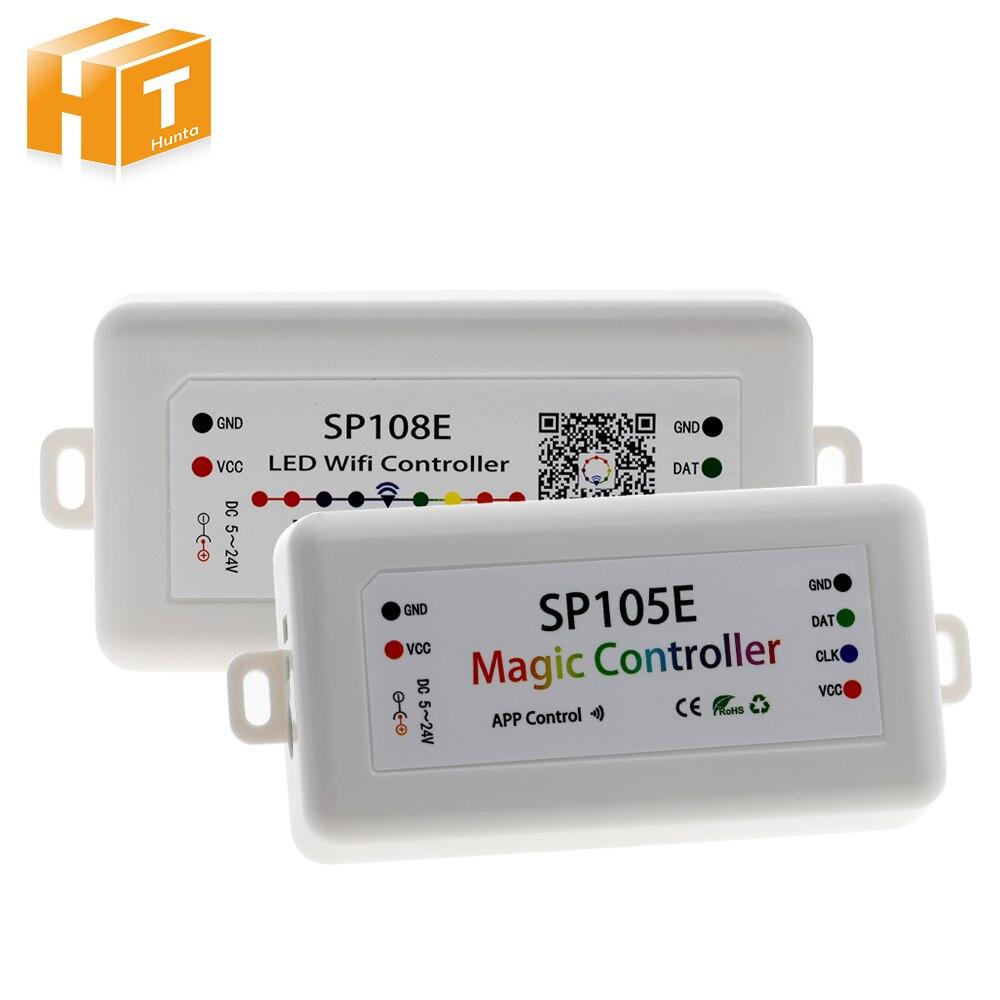 SP105E SP108E Magia Controller Bluetooth DC5-24V 2048 Pixel per WS2811 2812 2801 6803 IC HA CONDOTTO LA Striscia di Supporto IOS/Android APP