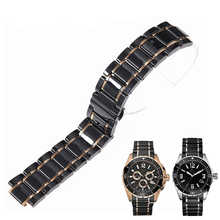 Luxury ceramic strap 24mm for GUESS GC ceramic watch bracelet bracelet black white light plus stainless steel ceramic watch band - DISCOUNT ITEM  42% OFF All Category