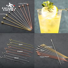 6 шт., 10,7 см-11 см, коктейльные палочки из нержавеющей стали, Фруктовые палочки, барные инструменты, палочки для размешивания напитков, для мартини, вечерние, свадебные, 3 цвета