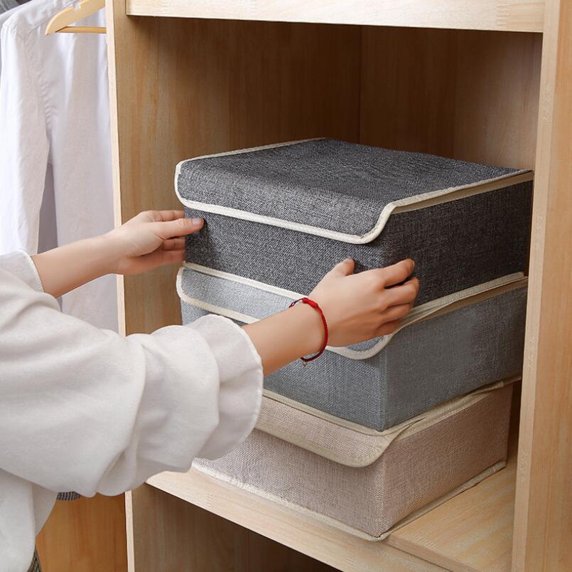 Image 2 - 13 Grid Drawer Divider Travel Organizer Houseware Supplies Underware Storage Box Closet Organizers Boxes Bra Case Cotton Linen-in Drawer Organizers from Home & Garden