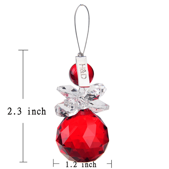 30mm red faceted ball snowman shape crystal prisms chandelier parts 10pcs crystal glass suncatcher crystal prisms chandelier pendant lamp hanging part wedding aloadofball Gallery