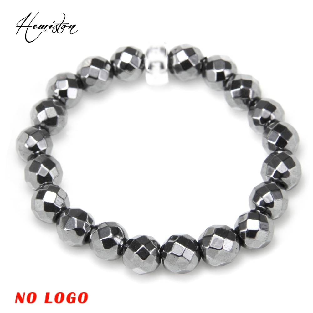 Thomas Hematite Bevelled Beads Charm Bracelet With A Charm Carrier,  European Ts Charm Bracelet Fine