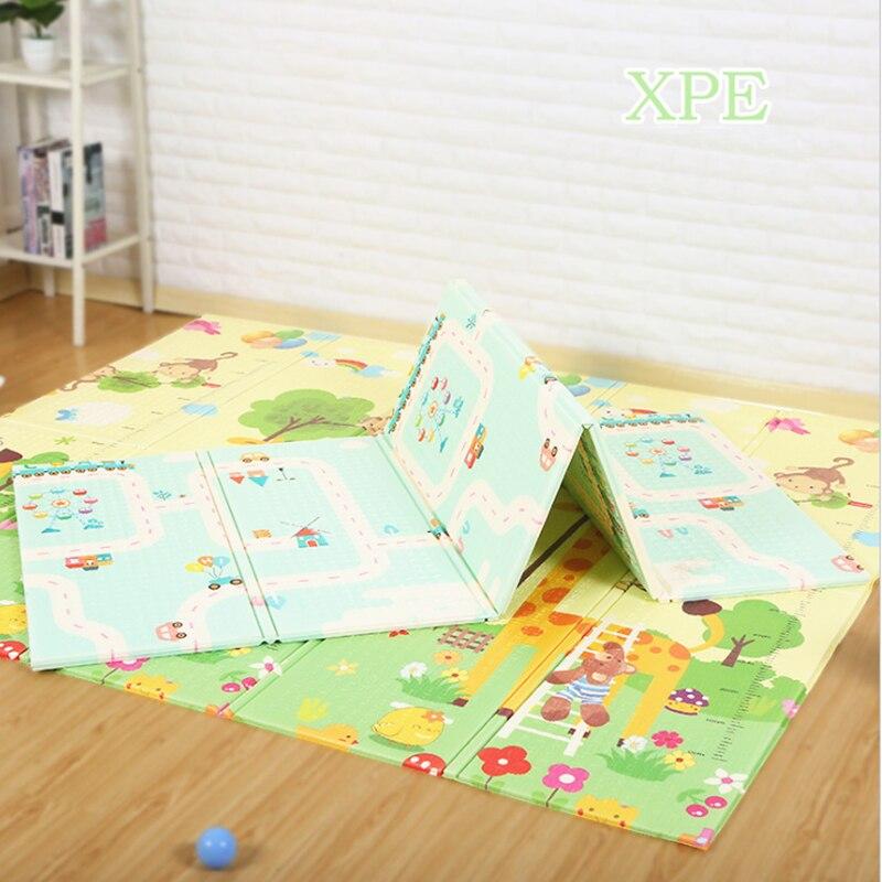 Tapis de jeu bébé XPE Puzzle Tapis pour enfants épaissi Tapete Infantil enfants ramper Pad Tapis pliant Tapis 200x180x1 cm Tapis de jeu