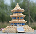 Children's wood wooden jigsaw puzzle toy model of the Temple of Heaven