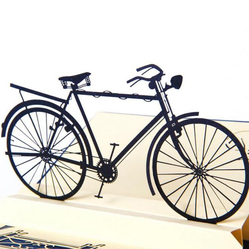 (10 buc / lot) hârtie diy tăiat pop up vintage bicicletă - Produse pentru sărbători și petreceri