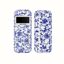 Купить с кэшбэком Soyes M11 Wood Shell Ultra Thin Mini Card Mobile Phone Pocket Students Low Radiation Cellphone Blue And White Porcelain Grain