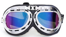 NEW Harley Style Motorcycle Goggles  Motorbike Leather Retro Jet Helmet Eyewear five color MX with Clear Lens
