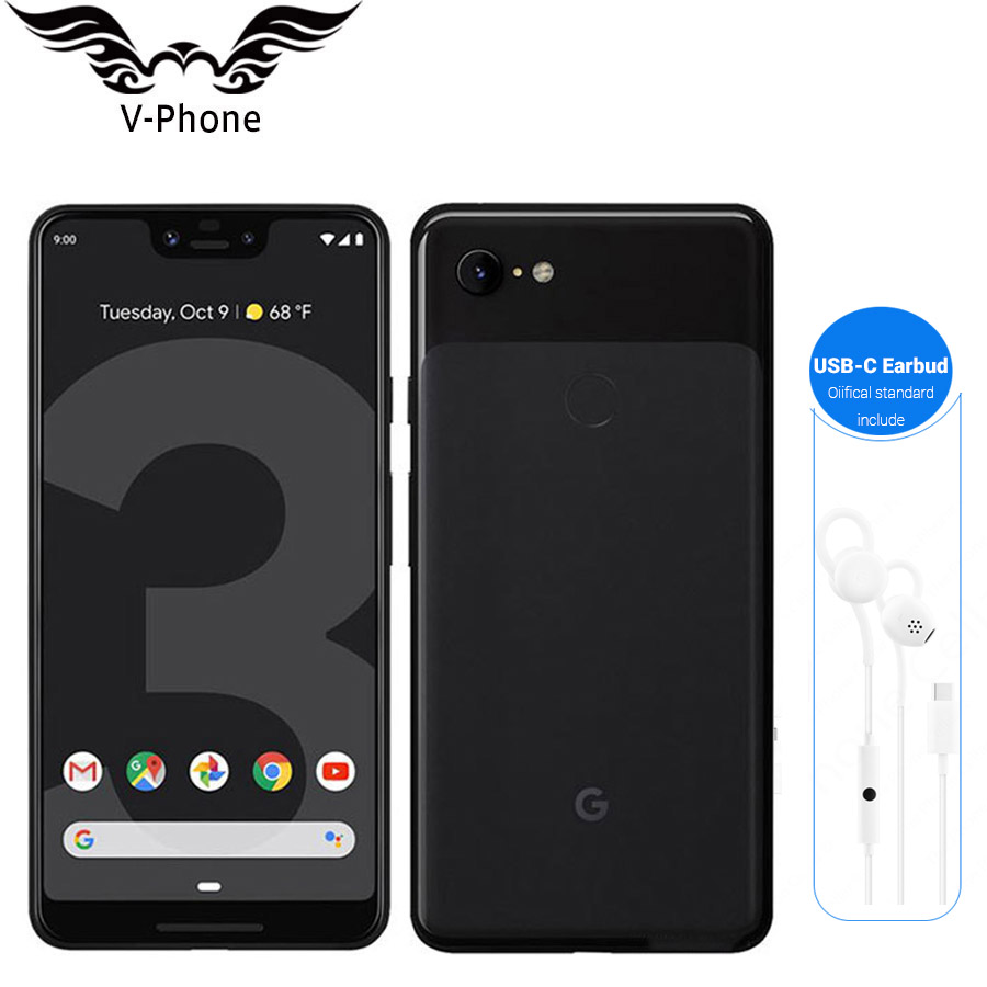 Brand New Original Google Pixel 3 XL Mobile Phone 6.3 Snapdragon 845 4GB RAM 64GB ROM Android 9.0 NFC Fingerprint Smartphone image