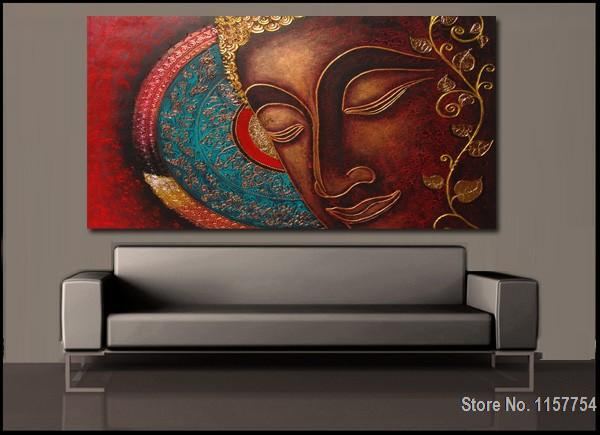 Buddha wall art canvas Buddha Painting Decorative Painting Cotton ...
