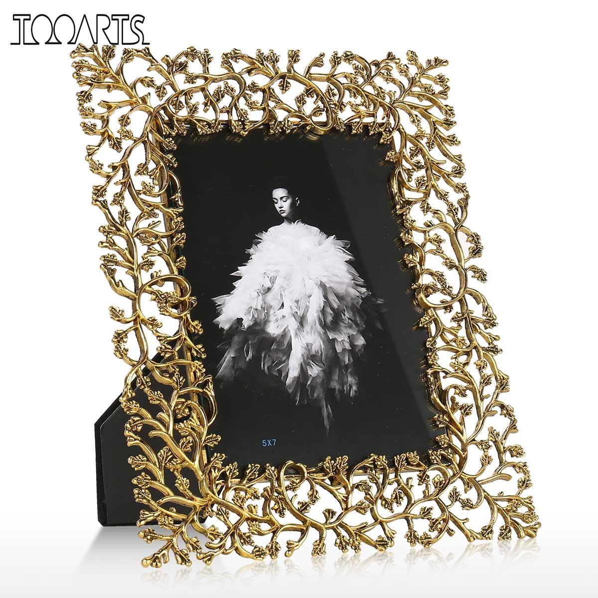 Aluminum Alloy Photo Frame Metal Picture Frame Tabletop Decorative Photo Frame Real Clear Glass Front Cover