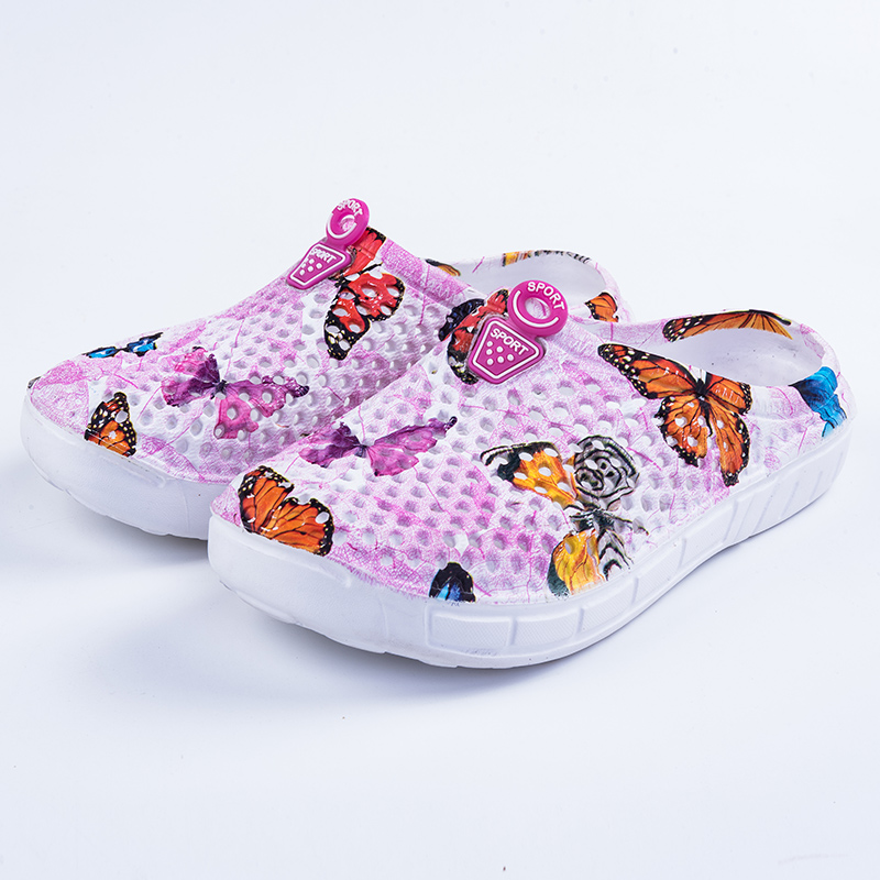 butterfly photo breathable upper casual women flats shoes