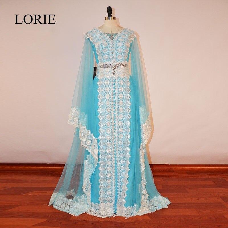 Kaftan Dubai Formal   Evening     Dresses   Long Sleeves Prom 2018   Dress   Party   Evening   Gowns Vintage Lace Appliques Plus Size Dres