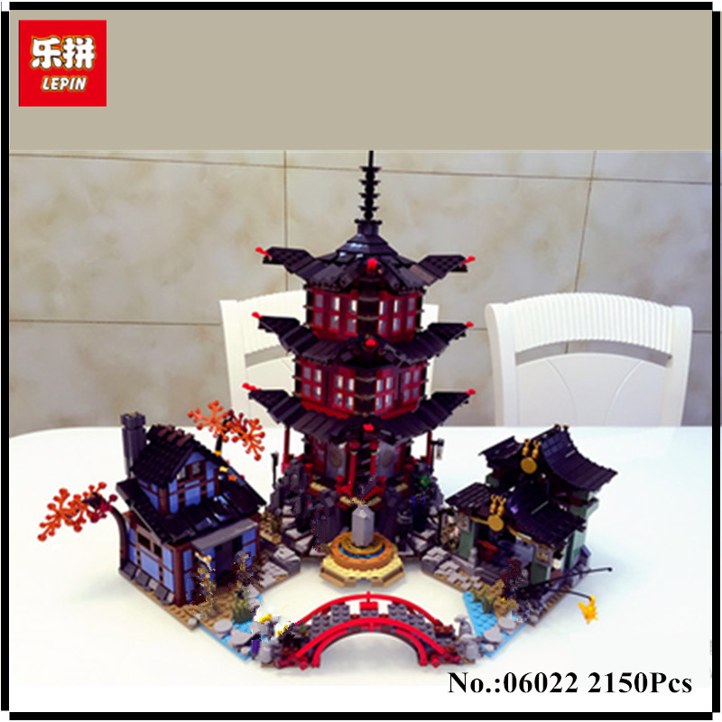 IN-STOCK 2150pcs Lepin 06022 City of Stiix Building Blocks Temple of Airjitzu anime figures Kids Bricks Toys brinquedos 70751 lepin city town city square building blocks sets bricks kids model kids toys for children marvel compatible legoe
