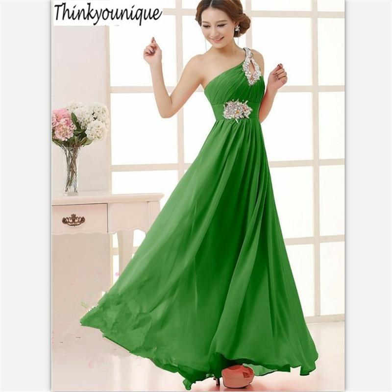 2016 livraison gratuite Une Épaule perle homecoming Parti robes De Bal Formelle Longue robes De Soirée robes de festa Plus La taille TK089