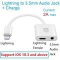 Blitz Audio Ladung Adapter für iPhone X/8 Plus  iPad  iPod  kopfhörer Adapter 2 in 1  12 cm/5 zoll  unterstützung iOS 10.3 und oben-in Handy-Adapter aus Handys & Telekommunikation bei