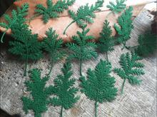 120pcs Green Pressed Dried Wormwood Leaf Leaves Plant Herbarium For Jewelry Pendant Ring Earrings Flower Making Accessories
